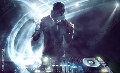 Zdjęcia na płótnie, fototapety, obrazy : DJ with Turntables