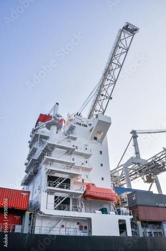 sea cargo port large cranes © vlaru