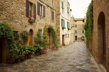 tradycyjne obrazowym ulice wsi Stare włoskie