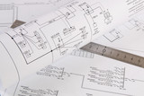 electrical engineering drawings printing and ruler
