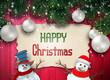 Obrazy na płótnie, fototapety, zdjęcia, fotoobrazy drukowane : Christmas decoration and snowmen