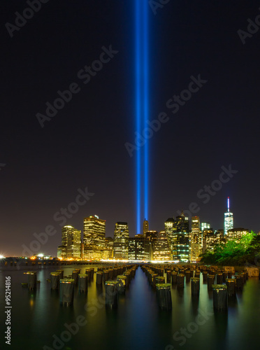 Tribute in Light. Downtown New York City Poster