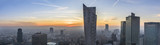 Fototapety Foggy sundown over Warsaw