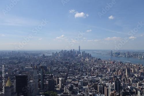 Foto op Aluminium New York Skyline von New York, Stadtteil Manhattan