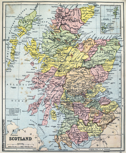 Map Of Victorian England.Map Of Victorian Era Scotland Buy Photos Ap Images Detailview