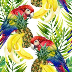 Parrot seamless pattern