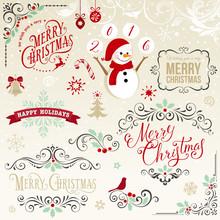Wesołych elementy Narodzenie