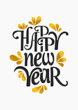 Happy New Year Greeting Card Template - 95247835