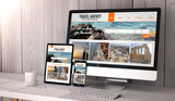 devices responsive on workspace travel agency online