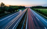 Sunset long-exposure over a german highway - Fine Art prints