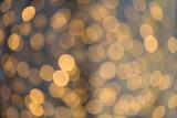 Fototapety blurred golden lights bokeh