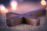 Fototapety Closeup of Wooden Christian Cross