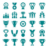 Fototapety Winner Victory Icon Set