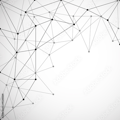 Abstract background with connecting dots and lines. Modern technology concept. Vector illustration. Eps 10