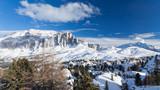 View of ski resort in Alps