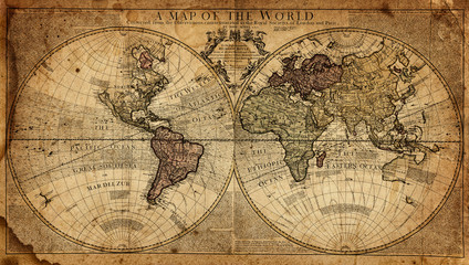 vintage map of the world © Tryfonov