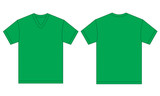 Green V-Neck Shirt Design Template For Men