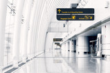 White hall at airport - modern architecture - 95331087