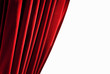 Red closed curtain - isolated