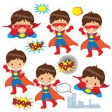 Fototapety Superhero boy vector illustration