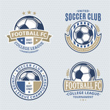 Fototapety Set of Soccer Football Club Logo