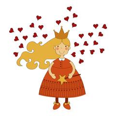 Love fairy vector illustration