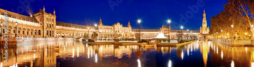 fototapeta na ścianę Evening view of Plaza de Espana. Seville, Spain