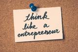 Fototapety think like a entrepreneur