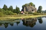Rock castle Sloup in northern Bohemia, Czech republic