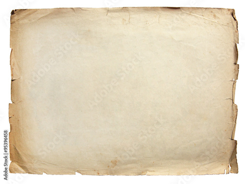 Fototapeta Vintage texture old paper background isolated on white