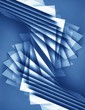 Abstract blue 3d background with polygonal pattern