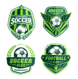 Set of Soccer Football Badge Logo Design Templates - 95425852