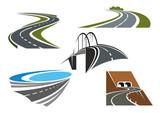 Fototapety Road bridge, rural highways and road tunnels