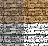 Fototapety Set Seamless Stone Textures