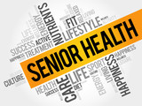 Senior health word cloud, health concept
