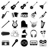 Fototapety Music icons set