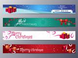 Fototapety set of christmas banner vector illustration