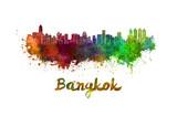 Bangkok skyline in watercolor
