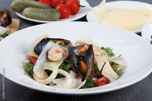 "Sea salad with mussels and squids"" Stock photo and royalty-free ..."