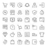 shopping thin line iconset