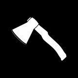 The ax icon. Axe symbol. Flat