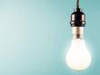 Hanged light bulb