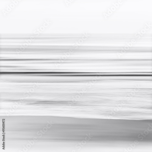 Black and White Blurred Seascape - 95600472