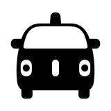 Fototapety Autonomous self-driving driverless car front view flat icon