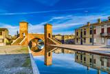 Fototapety Trepponti bridge in Comacchio, the little Venice