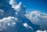 Aerial view of  Sky and close-up Clouds
