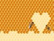 Obrazy na płótnie, fototapety, zdjęcia, fotoobrazy drukowane : Honeycomb cut in heart form