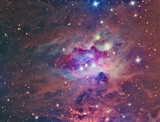 NGC 1973 Running Man Nebula imaged with a telescope and a scientific CCD camera