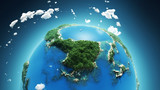 tropical paradise, aerial view