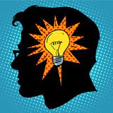Fototapety Business concept idea light bulb head